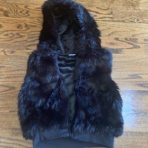 Gymboree Black Fur Vest, size small